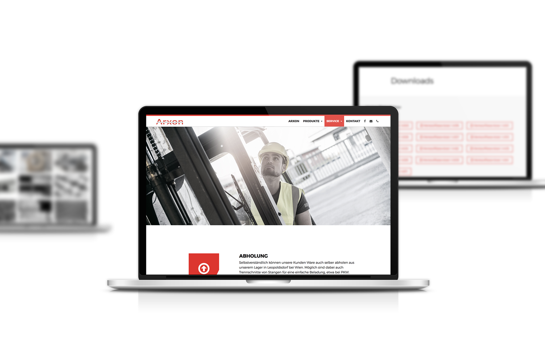 Arxon Responsive Website - Laptop Ansicht