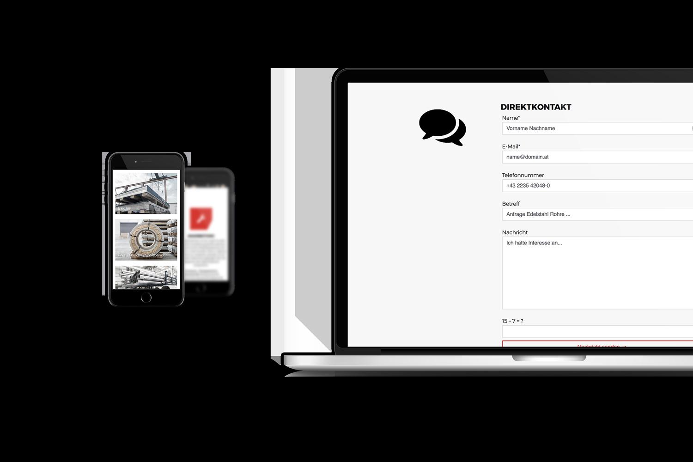 Arxon Responsive Website - Laptop und Mobiltelefon Ansicht