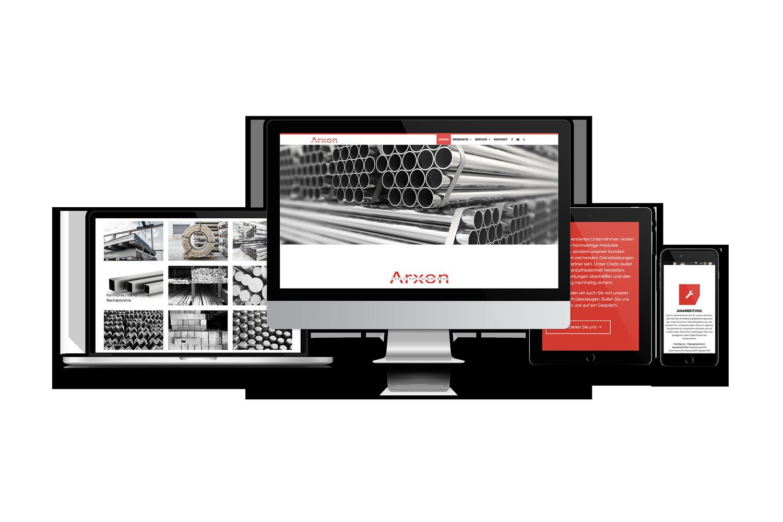 Arxon Responsive Website Views