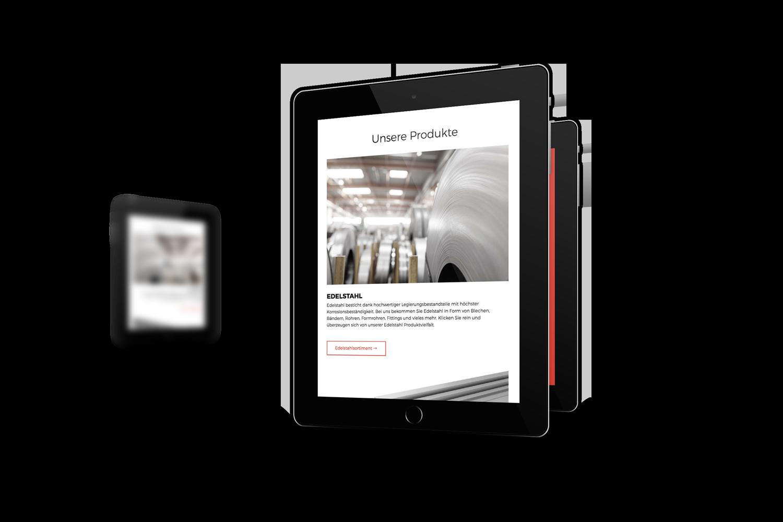 Arxon Responsive Website - Tablet Ansicht