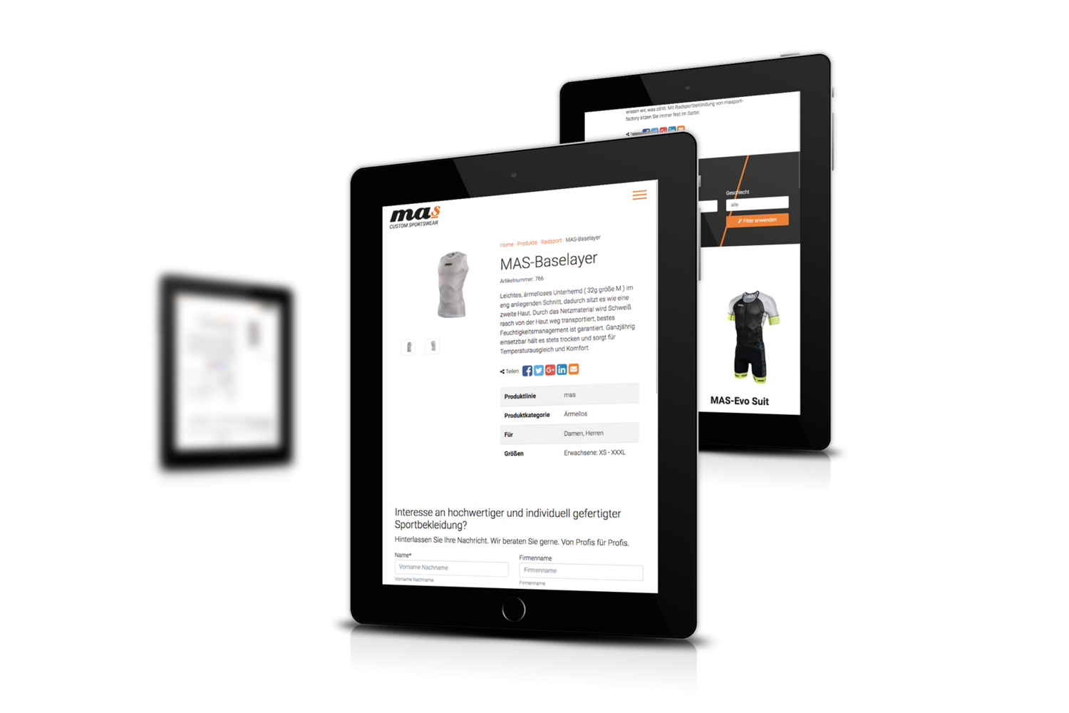 masport-factory Responsive Website - Tablet Ansicht