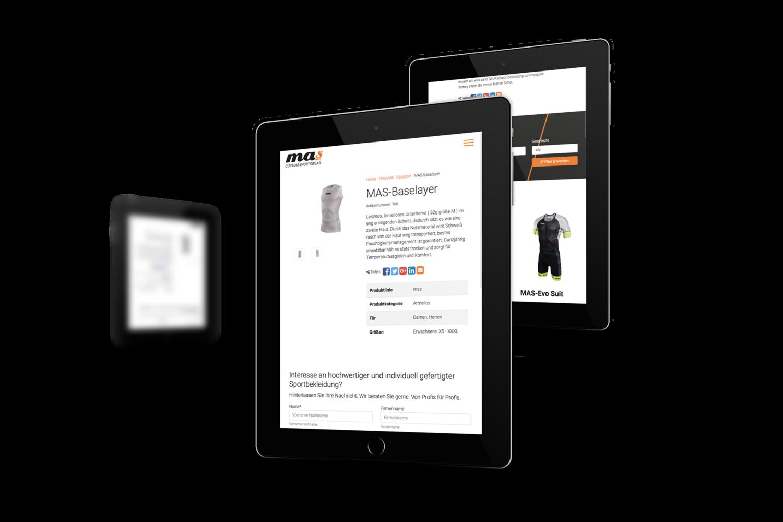 masport-factory Responsive Website - Tablet Ansicht