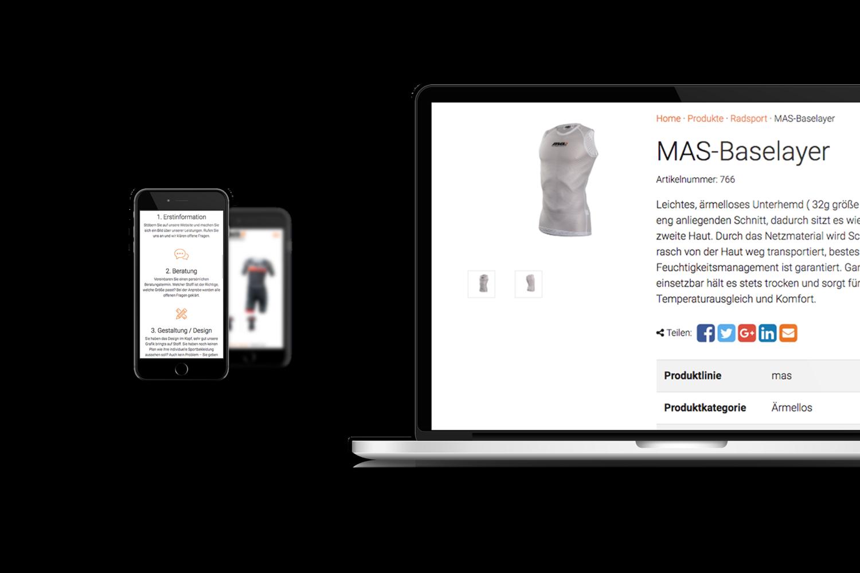 masport-factory Responsive Website - Handy und Laptop Ansicht