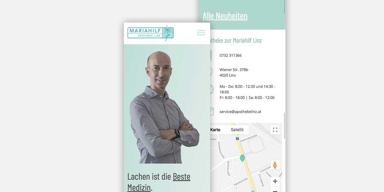 apothekelinz.at Responsive Website - Mobile